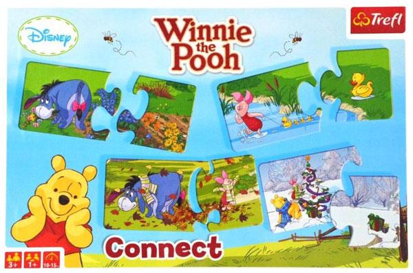 Baby puzzle Medvídek Pů dvojice (Baby puzzle Medvídek pů, skládání dvojic)