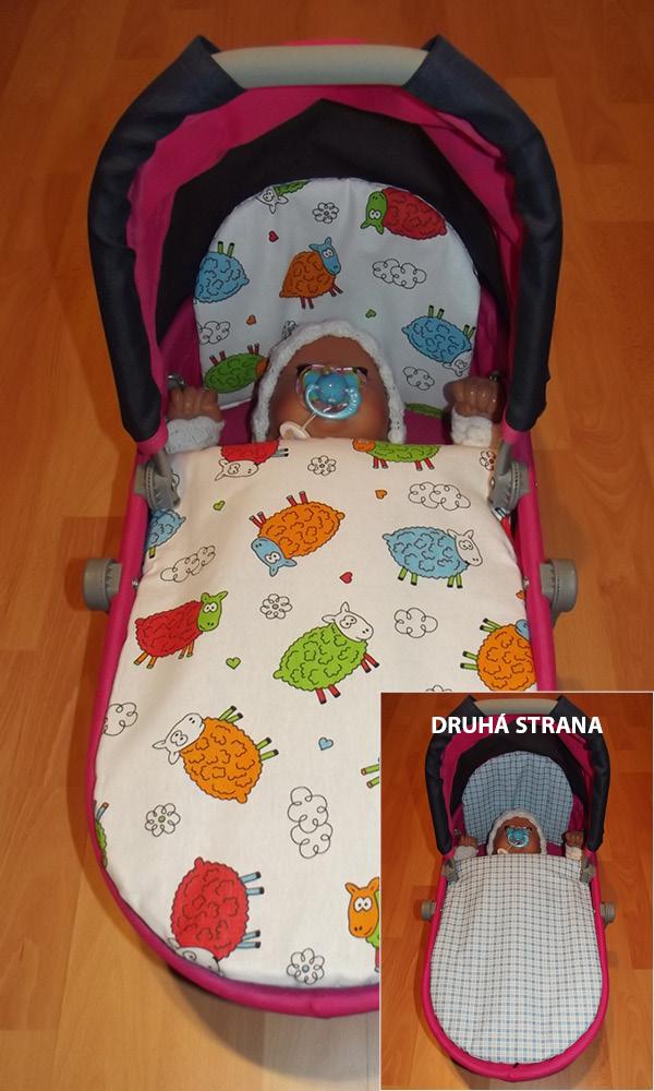 Peřinky do kočárku pro barevné panenky Ovečky