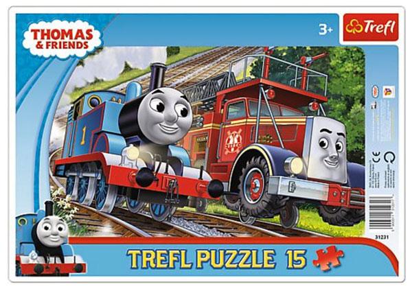 Puzzle Mašinka Tomáš 15 dílků