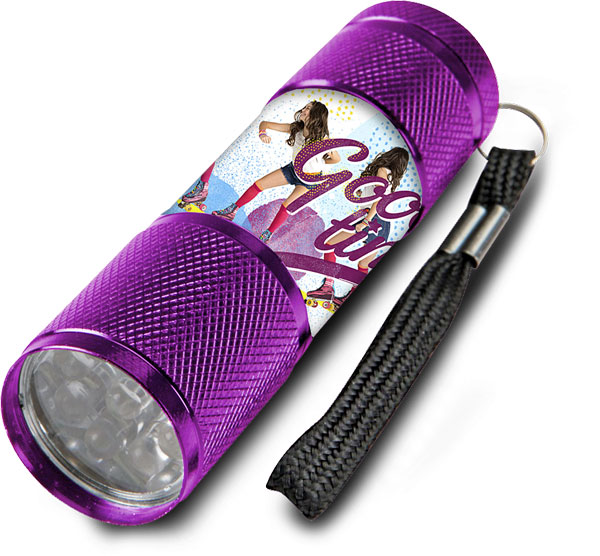 Dětská hliníková LED baterka Soy Luna lila (LED svítilna)
