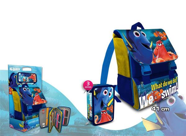 Školní set batoh a penál Hledá se Dory