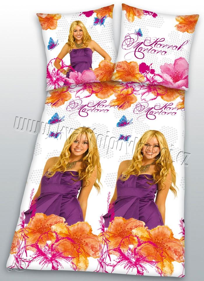 Povlečení Hannah Montana bílá 140/200 (ložní povlečení, dětské povlečení Hannah Montana bílá)