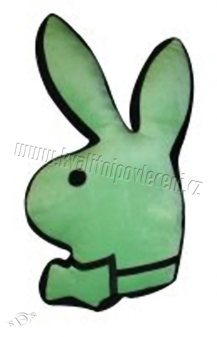Polštářek Playboy Lime králíček 55cm (dekorační polštářek Playboy)