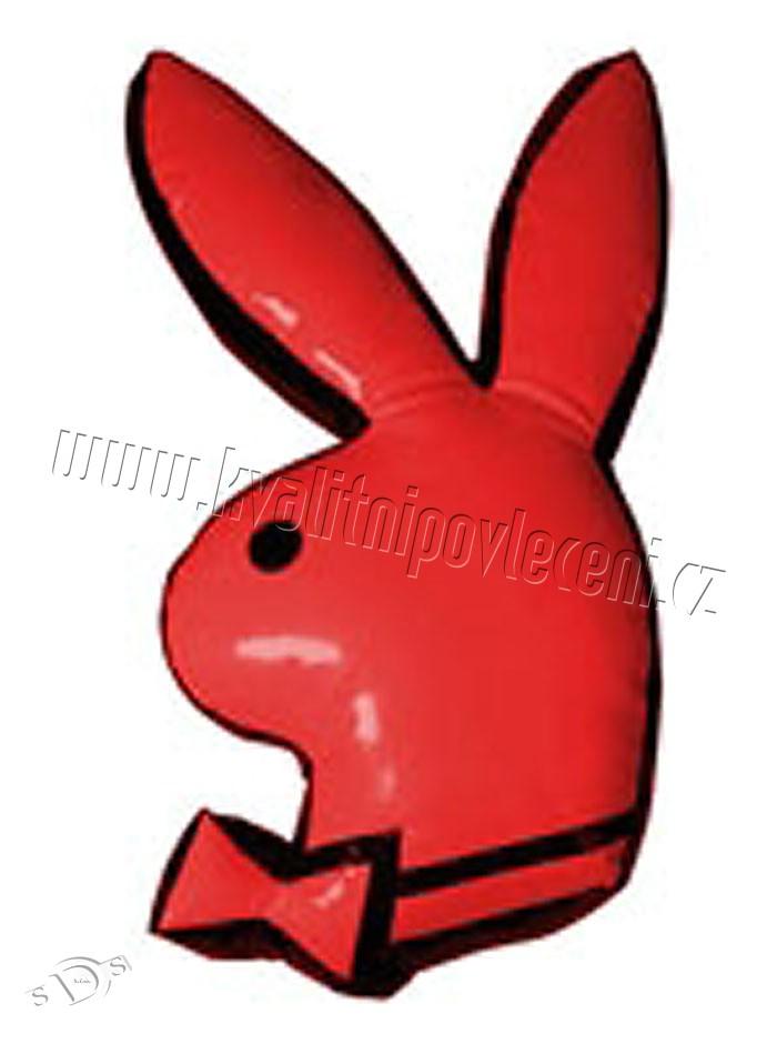 Polštářek Playboy Red králíček 55cm (dekorační polštářek Playboy omyvatelný)