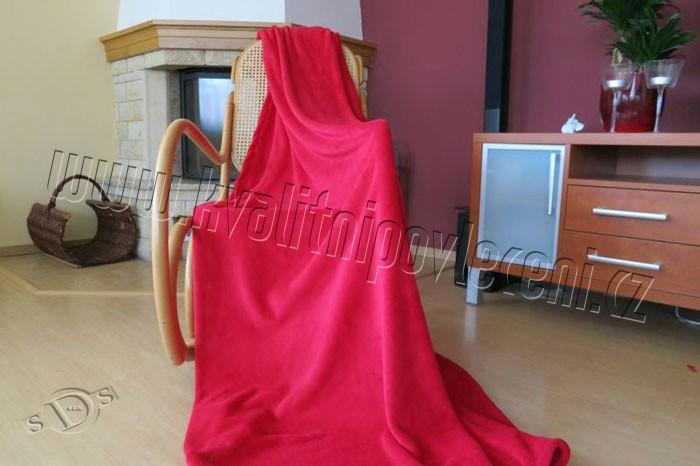 Deka micro UNI vínová 150/200 | Fleece deky, spací pytle deky Microdream