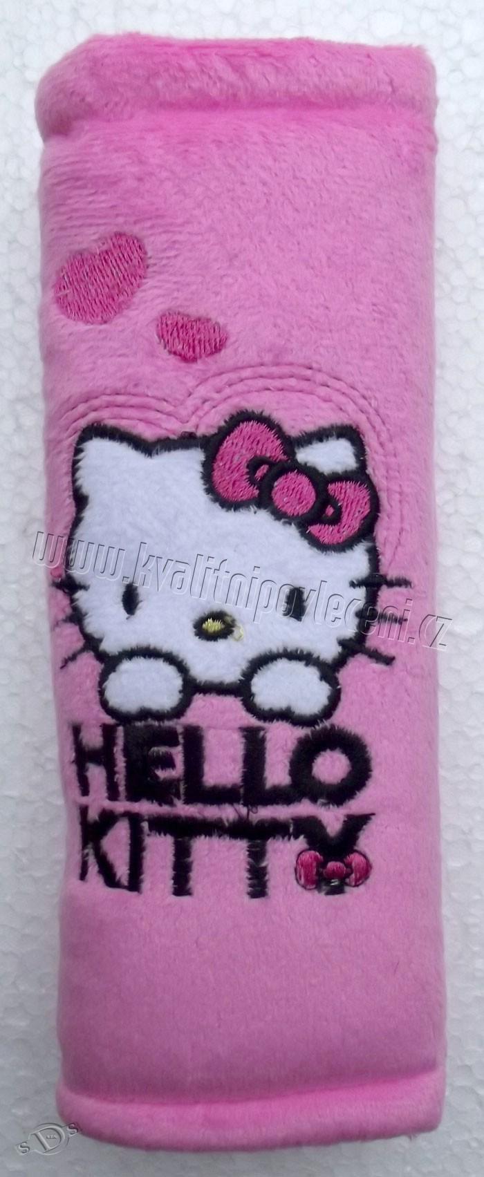 Polstrování pásu Hello Kitty růžová (polstrování pásu, chránič bezpečnostního pásu Hello Kitty růžová)