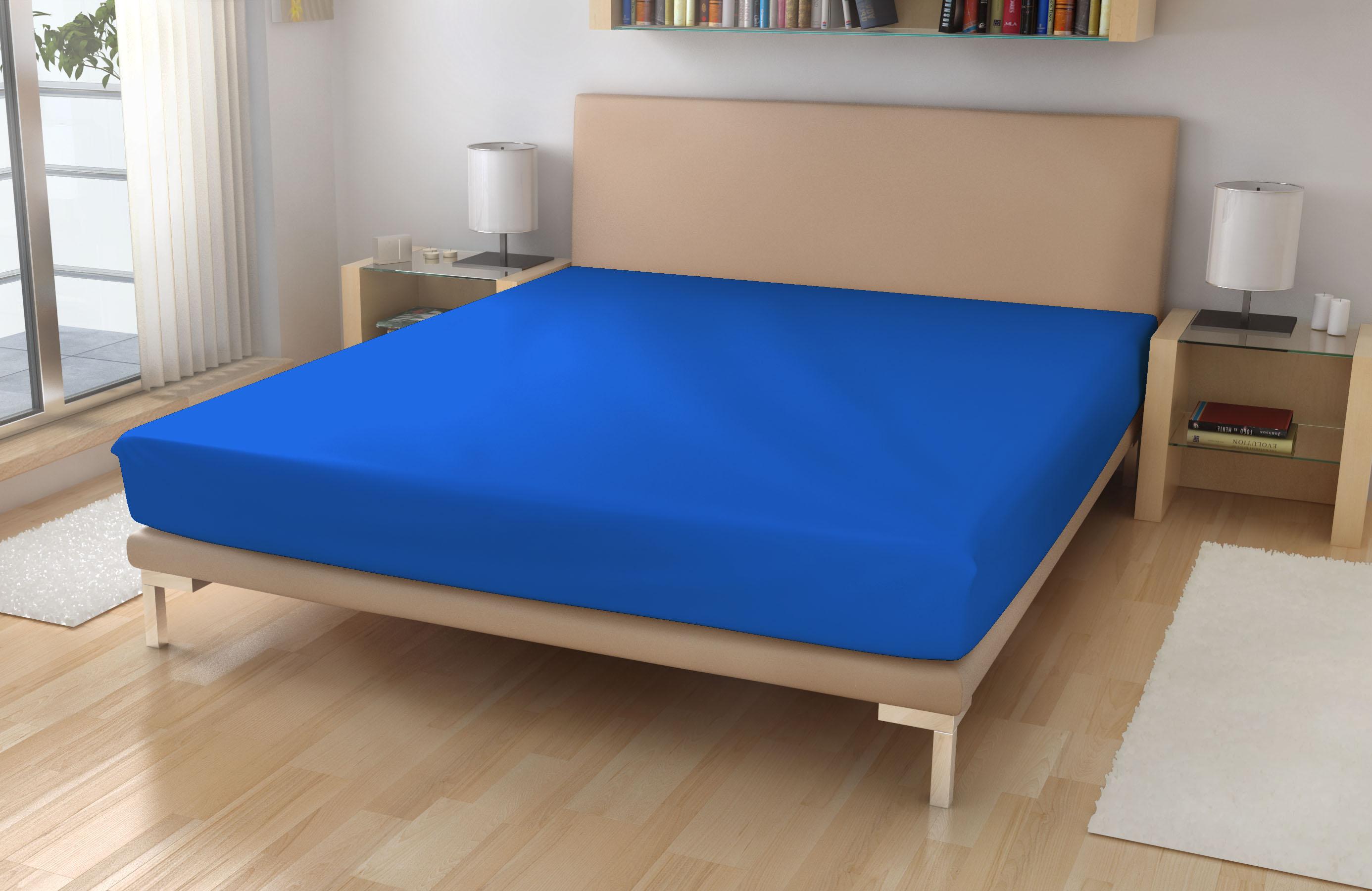 Jersey prostěradlo EXKLUSIVE Královská modrá 180/200 - Jersey 180x200