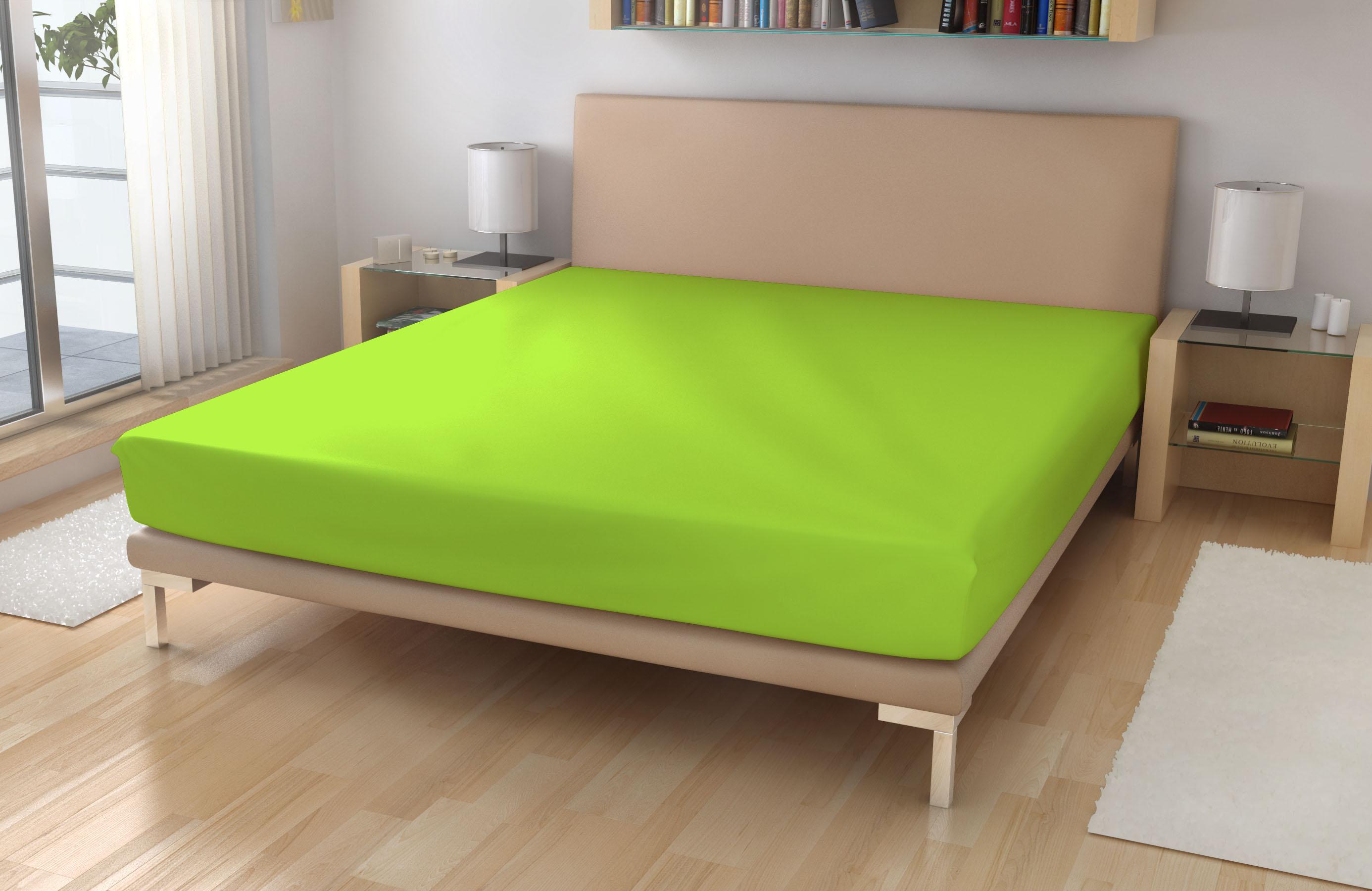 Jersey prostěradlo EXKLUSIVE Pastelově zelená 180/200 - Jersey 180x200