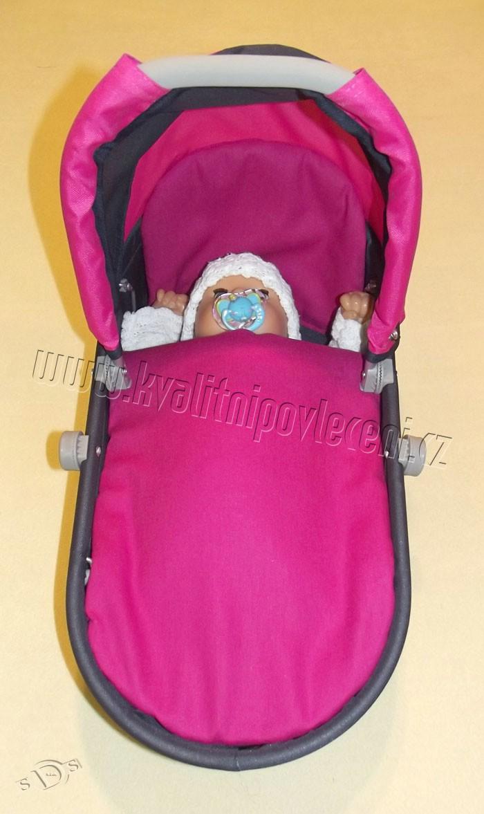 SDS Peřinky do kočárku pro panenky Sytě růžová 27x40, 25x20 cm - Hračky a doplňky