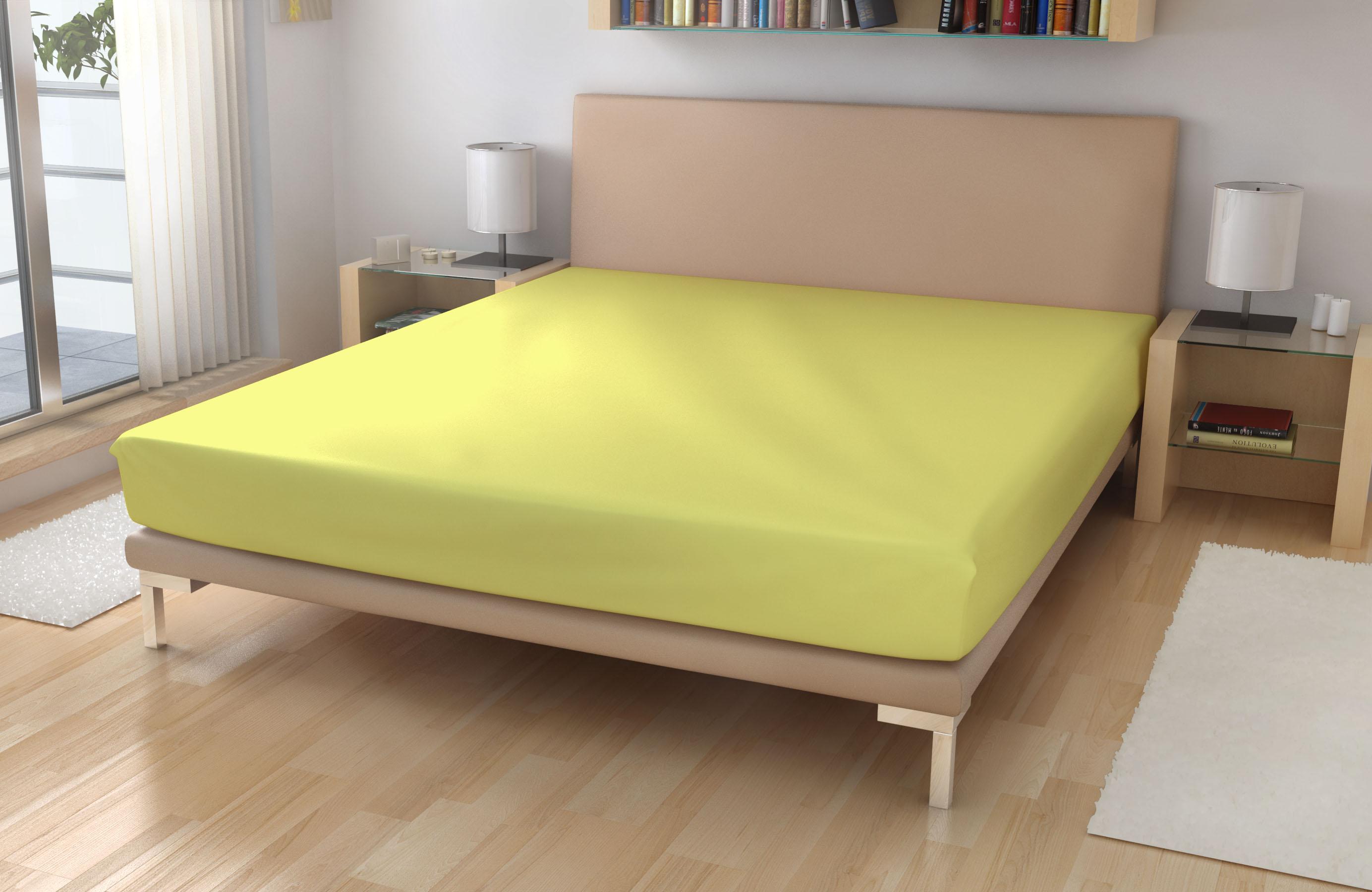 Froté prostěradlo EXKLUSIVE Světle žlutá 180/200 - Froté 180x200