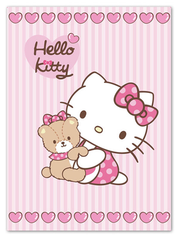 Španělská deka Hello Kitty Teddy 80/110 (Dětská deka Hello Kitty Teddy)