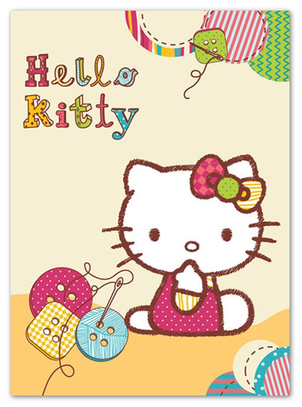 Španělská deka Hello Kitty knoflíky 80/110 (Dětská deka Hello Kitty knoflíky)