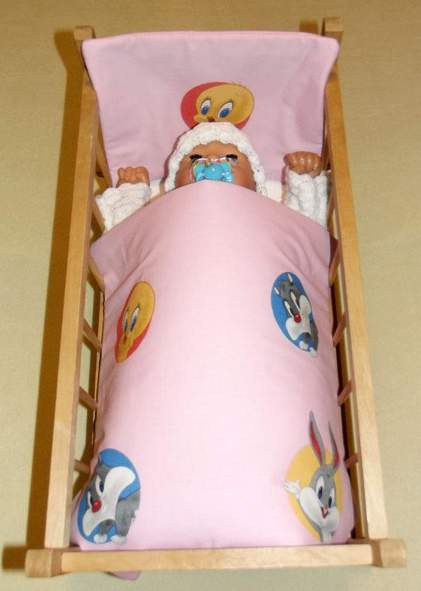 Peřinky do postýlky pro panenky Looney Tunes růžová