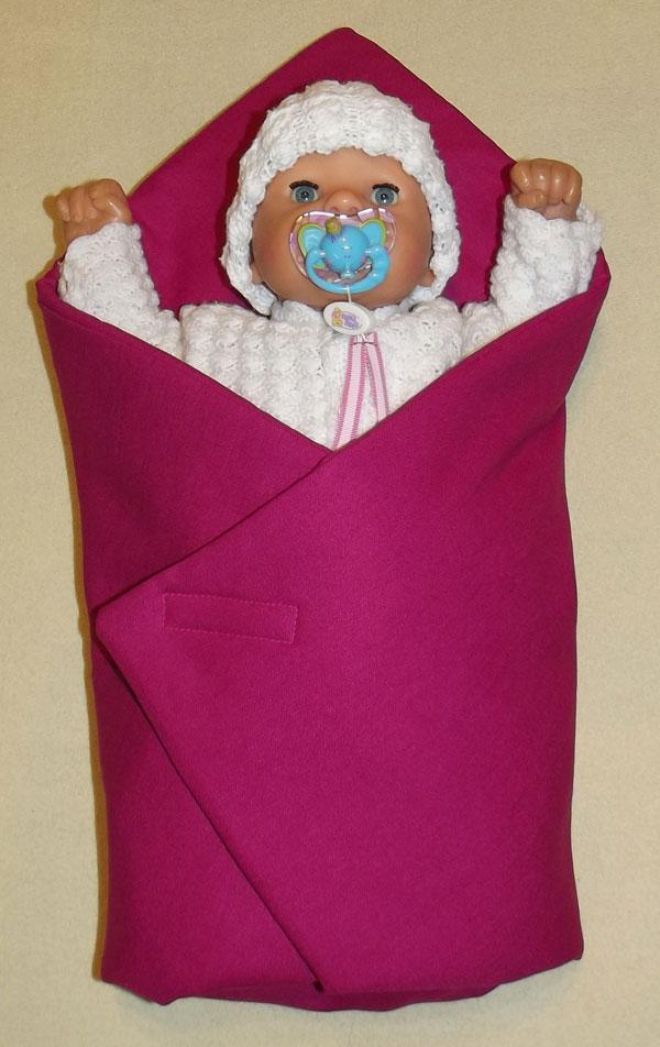 Rychlozavinovačka pro panenky Sytě růžová