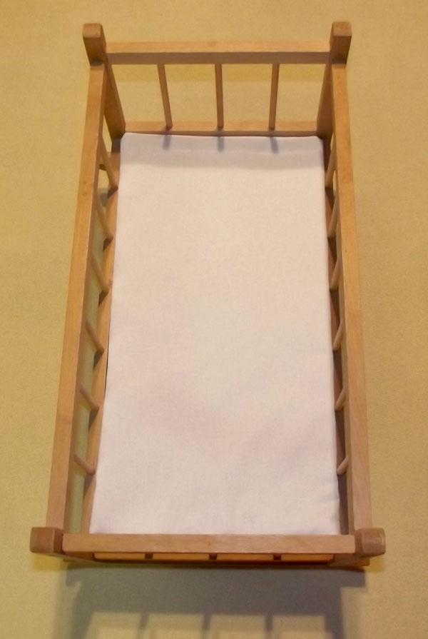 Matrace do postýlky pro panenky bílá 50/28 (bavlněná matrace do postýlky pro panenky)
