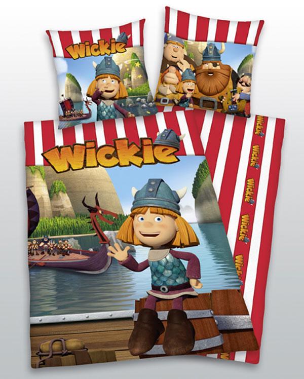 Povlečení Wickie 3D 140/200 (ložní povlečení, dětské povlečení Wicky 3D)